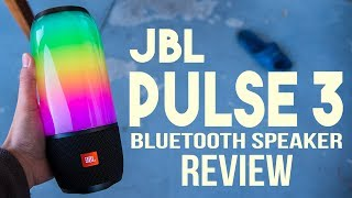 JBL Pulse 3 Bluetooth Speaker Review - LED Light Show!