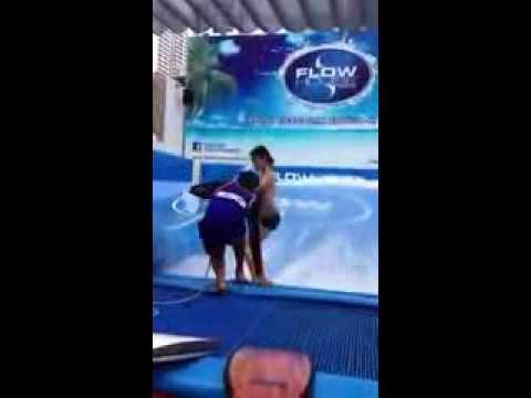 Trying flowboarding at Flow House Bangkok - Blink