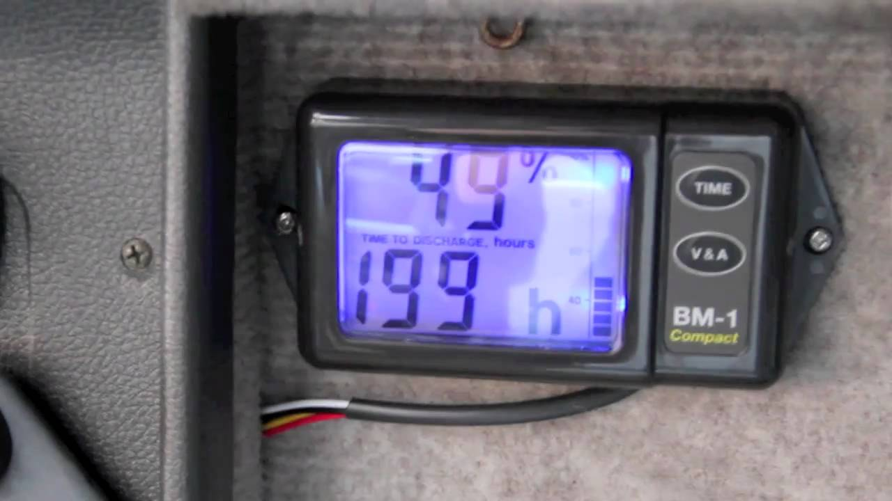 Rv Battery Monitoring Display : Nasa bm compact campervan battery monitor youtube