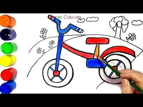 Bike Drawing and Painting Coloring Pages for Kids  ❈Magic Coloring❈
