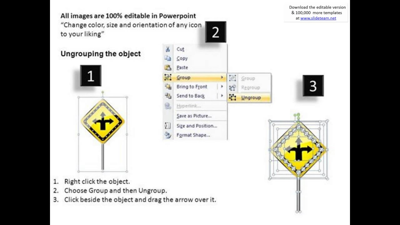 ppt slides choices of directions road signs powerpoint templates, Powerpoint templates