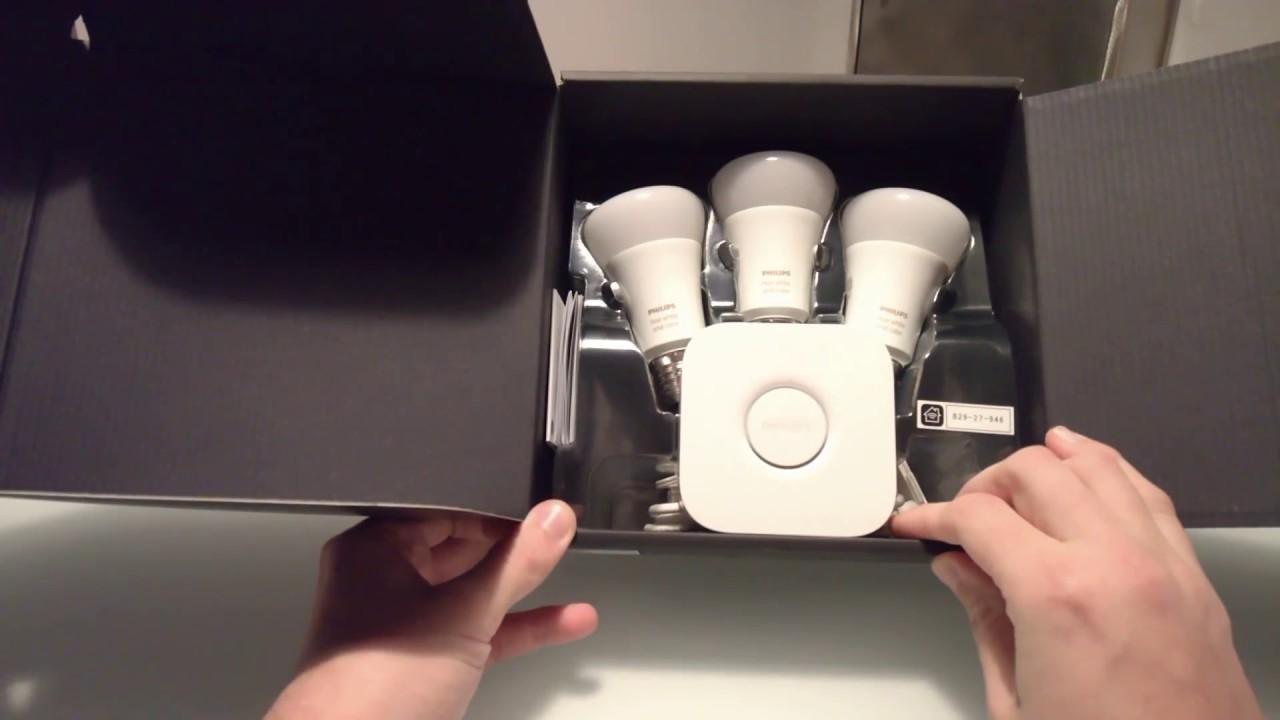 philips hue starterkit go iris unboxing deutsch german youtube. Black Bedroom Furniture Sets. Home Design Ideas