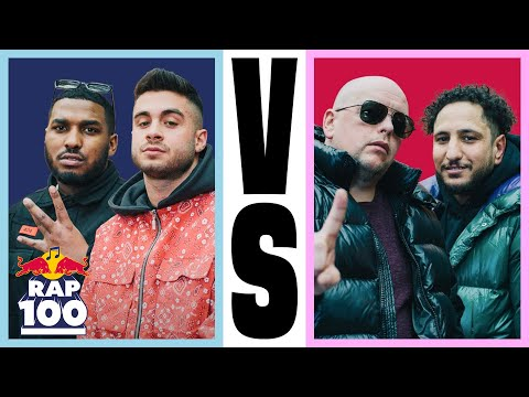 Celo & Abdi VS. reezy & Jamule | Rap Duell #1 | Red Bull Rap Einhundert from YouTube · Duration:  24 minutes 50 seconds