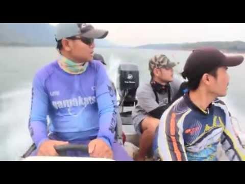 ตกปลาเขื่อนวชิราลงกรณ์(เขาแหลม) กาญจนบุรี  #Fishhunter 2558