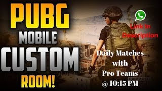 PUBG MOBILE 🤗 TDM | Daily Night Matches With Pro Teams Join Whats Group Link In Description