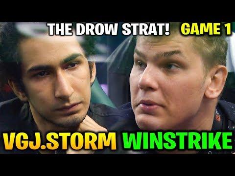 VGJ.STORM vs WINSTRIKE TI8 - DROW STRAT! THE INTERNATIONAL 2018 - Game 1