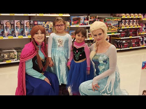 Princesses Meeting with ELSA and ANNA (FRozen) in Toy's R us Espoo Finland - YouTube