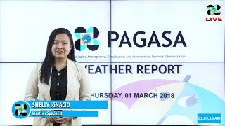 Public Weather Forecast Issued at 4:00 AM March 01, 2018