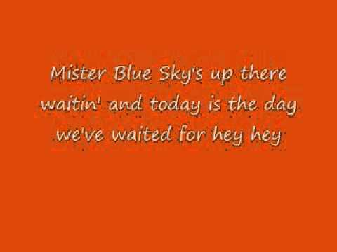Mr. Blue Sky - E.L.O. With Lyrics!
