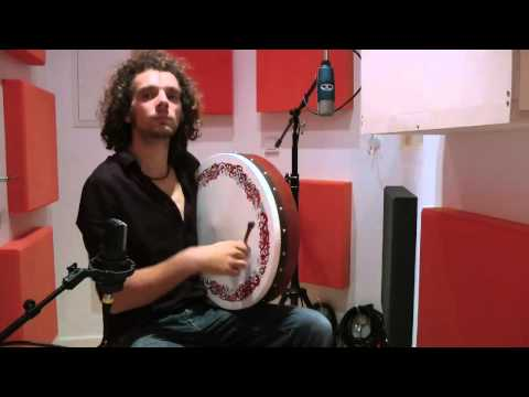 Irish Reels on Tin Whistle, Bodhran and Celtic Harp - Humours of Tulla