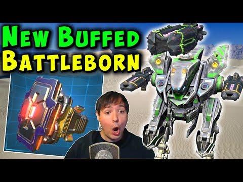 New Buffed BATTLEBORN Module - War Robots Mk2 Live Gameplay WR