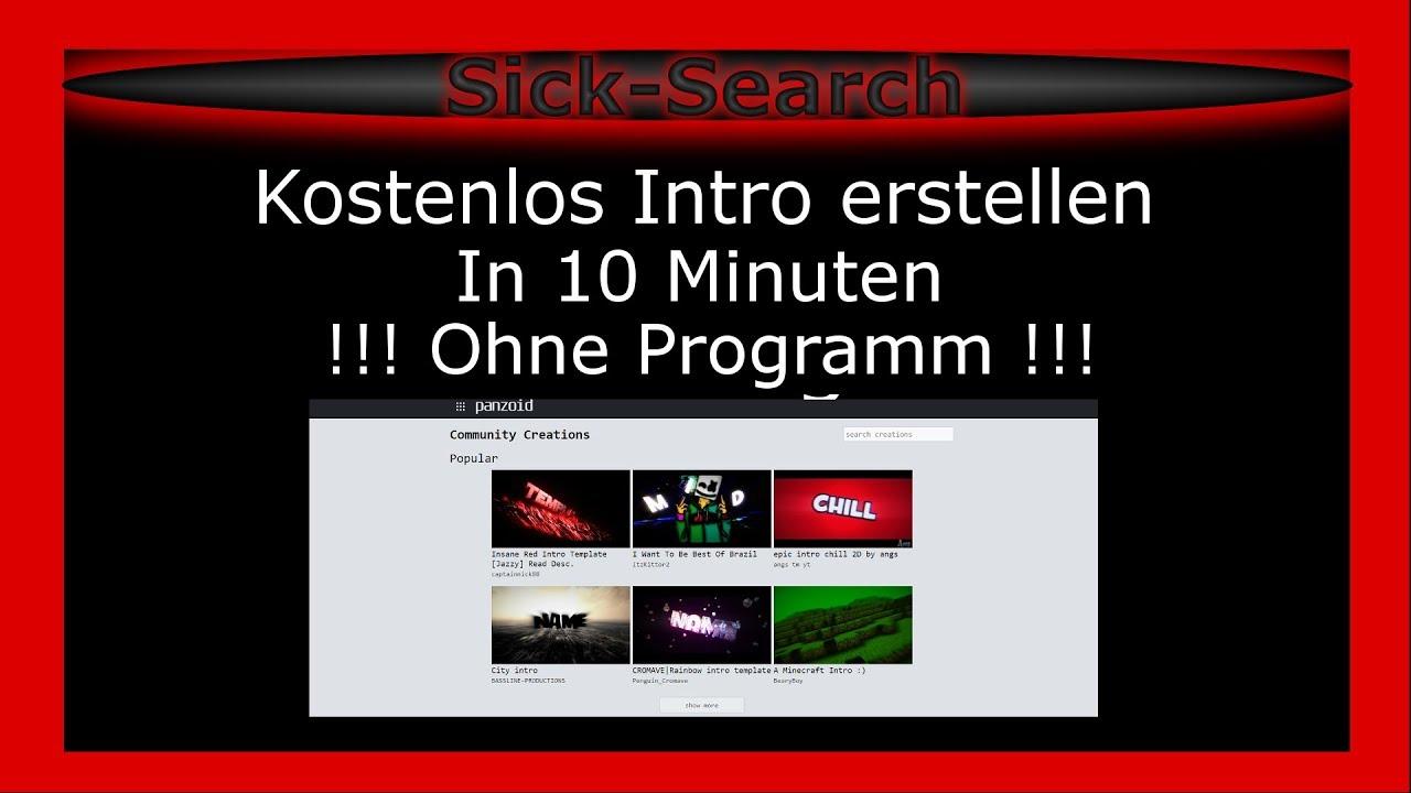 Kostenlos Intro erstellen OHNE Programm [German] [FullHD] - YouTube