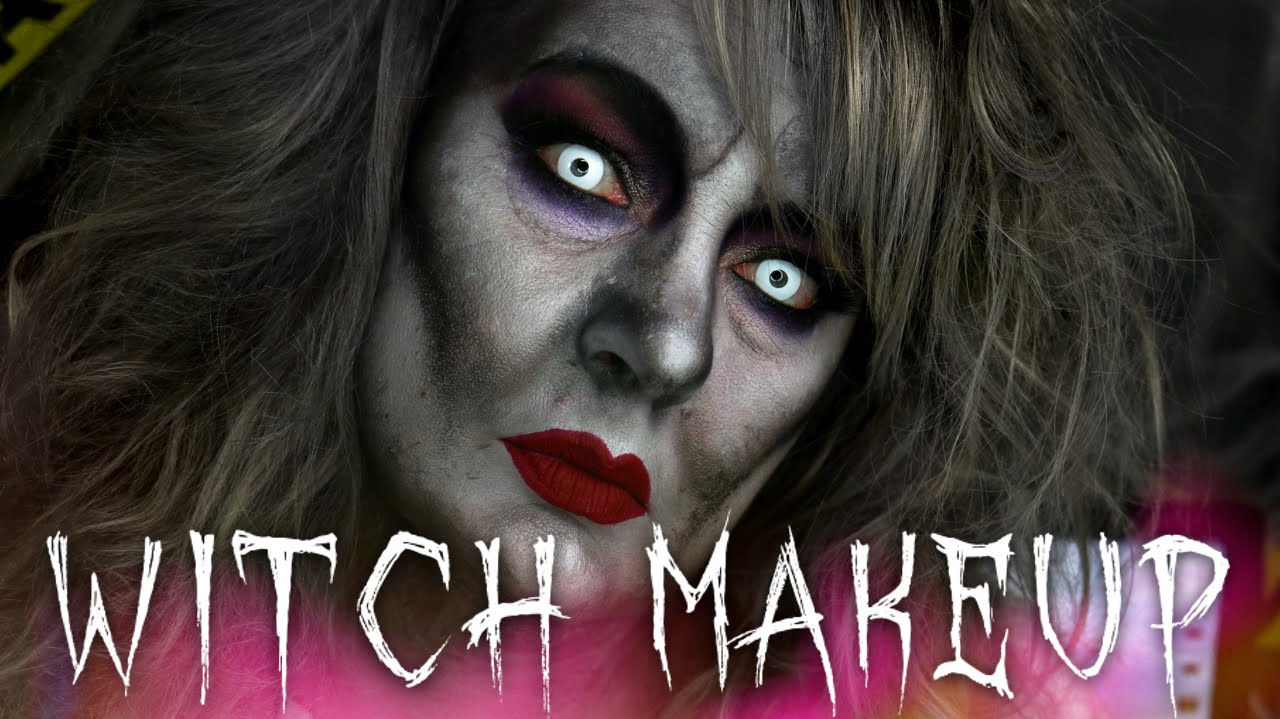 Witch halloween makeup tutorial 31 days of halloween youtube baditri Images