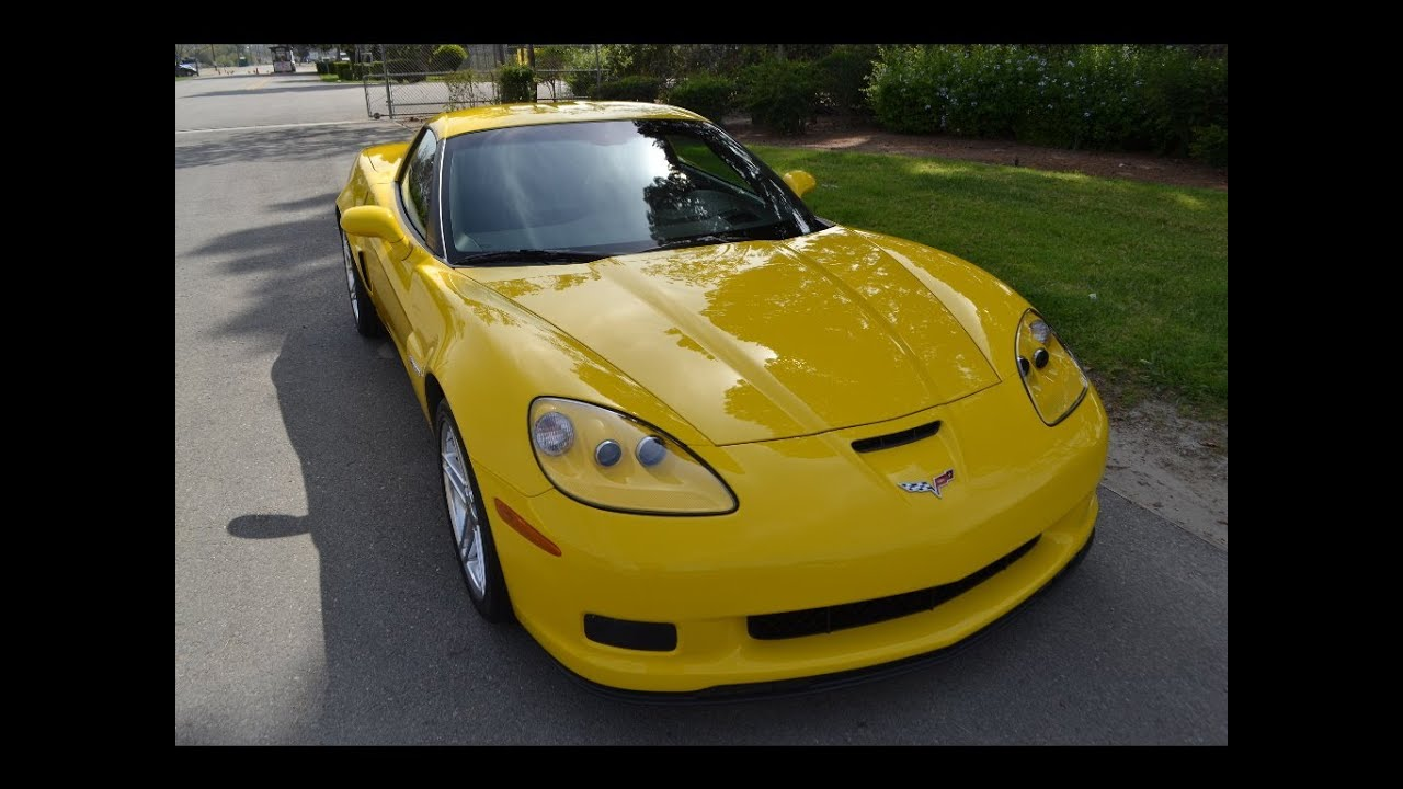 Sold 2006 Chevrolet Corvette Zo6 Coupe Velocity Yellow For