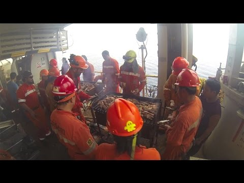 Barbecue to Africa on Saipem 7000