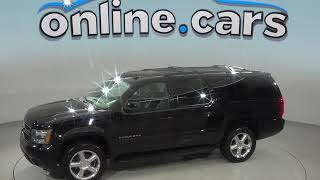 A98959ET Used 2012 Chevrolet Suburban 1500 LT 4WD SUV Black Test Drive, Review, For Sale