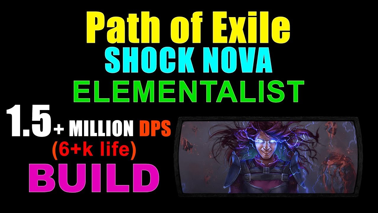 shock nova elementalist build for path of exile youtube