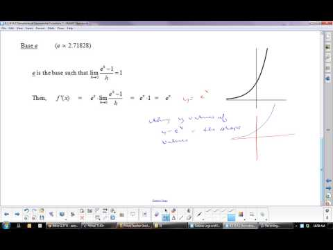 U8L2 Derivatives of Exponential Functions: Calculus