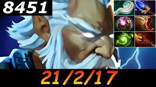 Dota 2 Zeus 8451 MMR 21/2/17 (Kills/Deaths/Assists) Ranked Full Gameplay