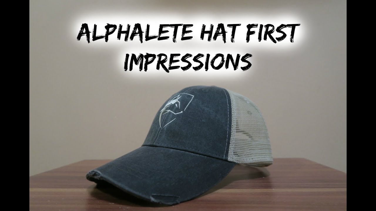 76baf33a Alphalete Trucker Hat First Impressions - YouTube