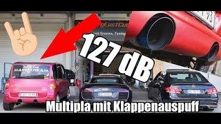 Fiat Multipla Klappenauspuff ! DB Battle gegen E500 Biturbo & R8 Soundcheck
