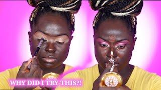 STEPPING ON NECKS?! Full Face Using Drugstore Beauty Brands on Dark Skin   Ohemaa Bonsu
