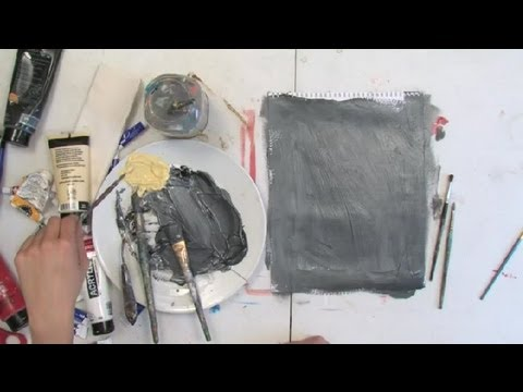 How to Achieve the Splashing Effect With Acrylic Paints : Painting Tips