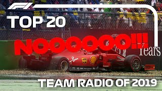 Top 20 F1 Team Radio Clips of 2019