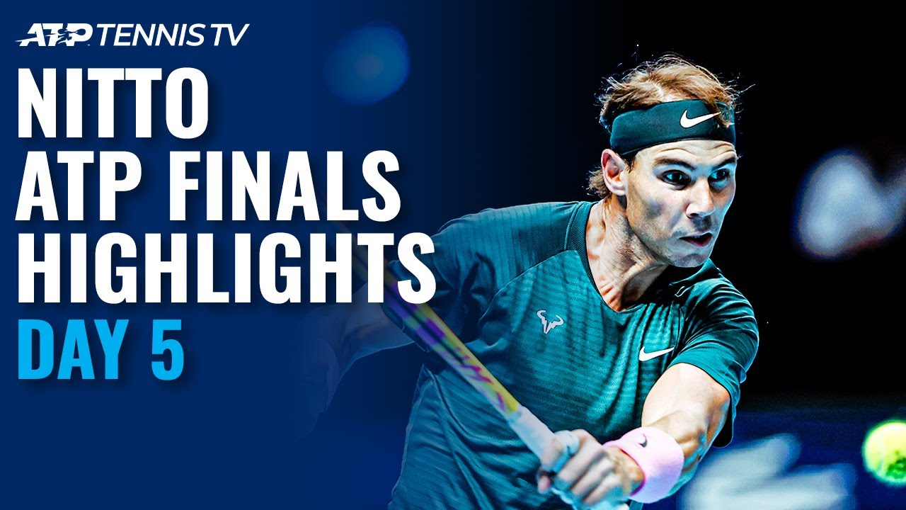 Nadal vs Tsitsipas; Thiem vs Rublev | Nitto ATP Finals 2020 Highlights Day 5