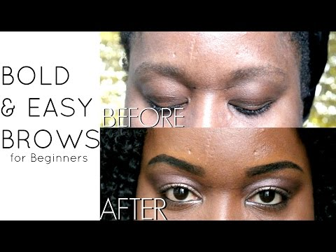 Bold and Easy Eyebrow Makeup Tutorial for Beginners