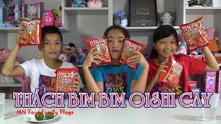Hồng Anh Thách Ăn 2 Gói Bim Bim Oishi Tôm Cay - Hình Phạt Uống Nước Chanh - Snack Challenge! thumbnail
