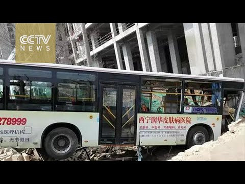 Footage: man causes a series of accidents with a bus