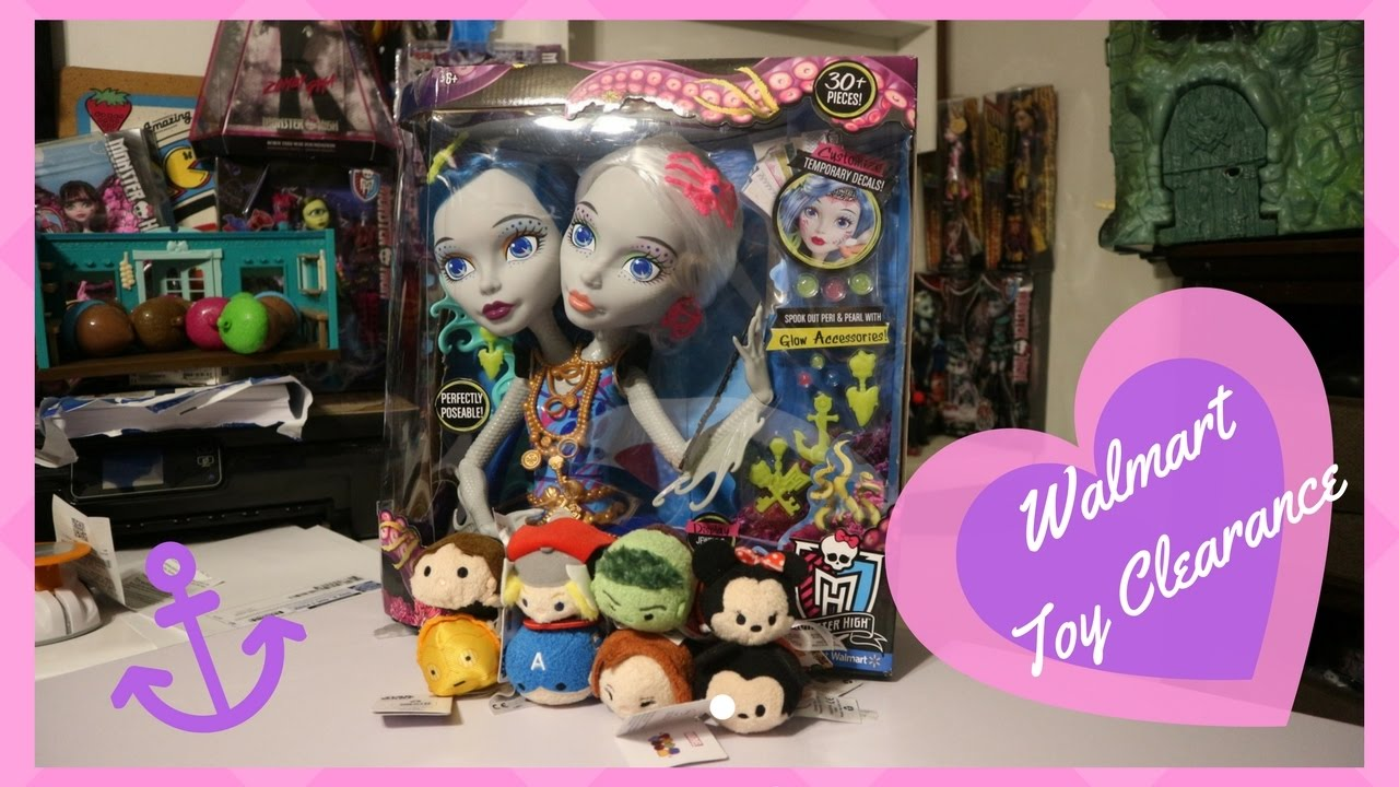 Walmart Toy Clearance Haul Monster High And Tsum Tsum