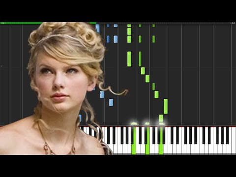 Love Story - Taylor Swift [Piano Tutorial] (Synthesia) // SheetMusicDesu