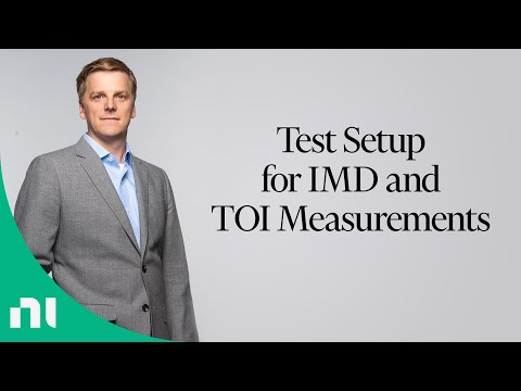 Test Setup for IMD and TOI Measurements