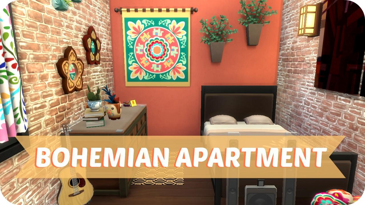 Sims 4 Speed Build | Opposite Besties Apartment (bohemian ...