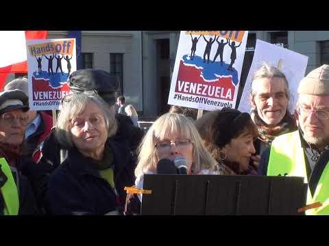 #HandsOffVenezuela HÄNDE WEG VON #VENEZUELA Protest Berlin 16.2. Rede Uwe Hiksch