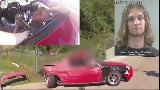 Body Cam: Driver Fled Traffic Stop - Drags Officer - Die In Crash - Ogden Police UT. July 21-2020