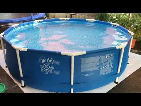 Как сложить бассейн на зиму видео