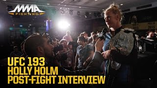 UFC 193: Holly Holm Talks 'Huge' Win Over Ronda Rousey