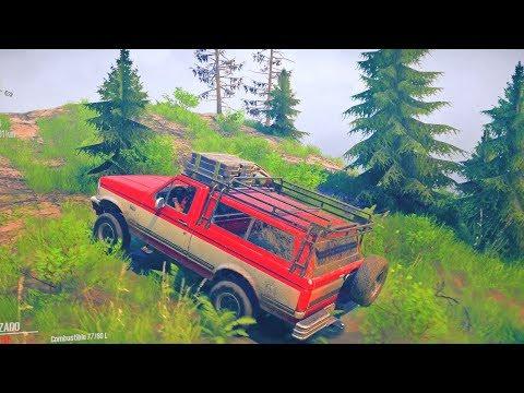 Ford F-150 4x4 Offroad | Explorando Mapa Monte Logmore | American Wilds MudRunner