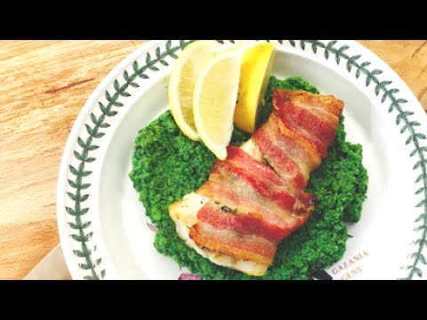 Bacon and Pesto Baked Cod