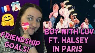 BTS Boy with Luv WITH HALSEY in Paris REACTION (Fancam Stade de France Paris Concert)