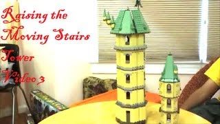 Lego - Harry Potter - Hogwarts Castle - Raising The Moving Stairs Tower - Video 3