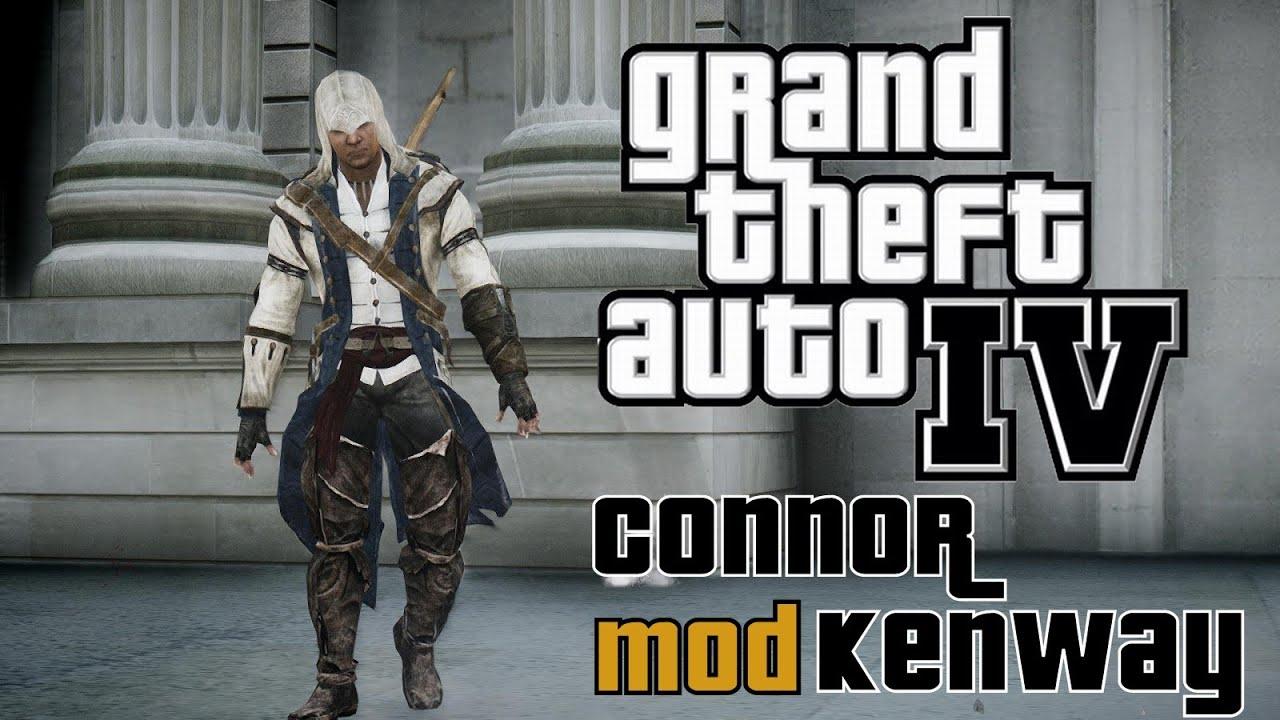 GTA: IV - Connor Kenway Mod - Assassin's Creed III [HD]