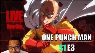 [Vezaks: реакция] СЕКРЕТ ЕГО СИЛЫ?! One Punch Man - 1 сезон 3 эпизод