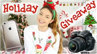 Holiday Giveaway! iPhone 6, DSLR Camera, & Polaroid | Meredith Foster