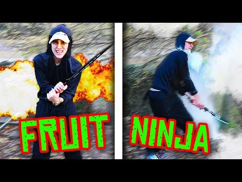 FRUIT NINJA IN REAL LIFE!