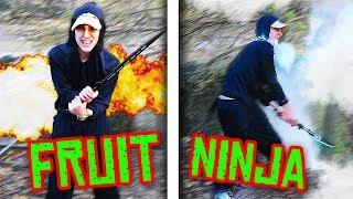 FRUIT NINJA IN REAL LIFE!