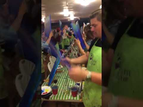 video:Paint nite at Bruno's Bar and Grill